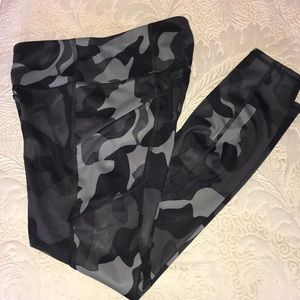Athleta Camo Print Workout Pants
